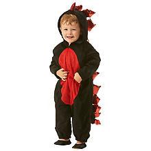 Drachen-Overall für Kinder, schwarz/rot