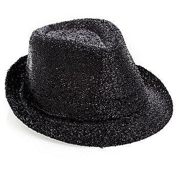 Chapeau trilby, noir métallisé