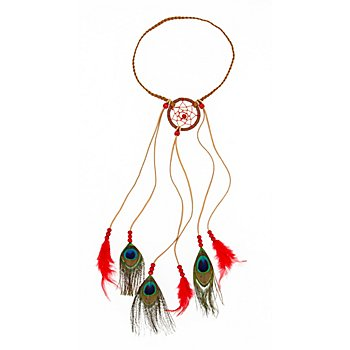Haarschmuck 'Indianer', rot
