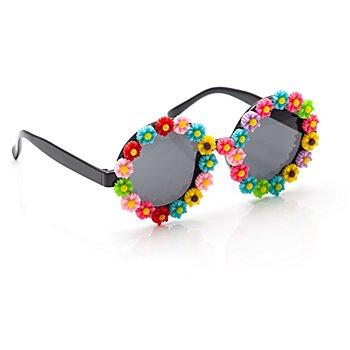 Hippie-Brille mit Blumen