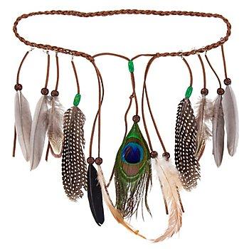Haarschmuck 'Indianer', natur