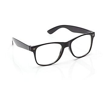 Hipster-Brille, schwarz