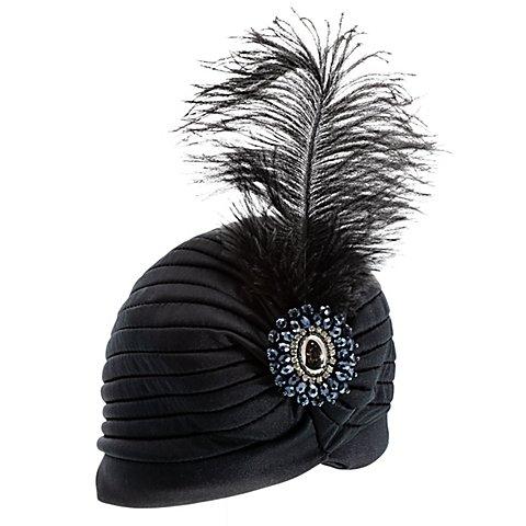 Image of 20er-Jahre-Turban, schwarz