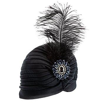 20er-Jahre-Turban, schwarz