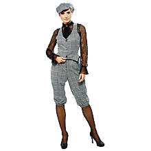Anzug 'Roaring 20´s' für Damen, grau