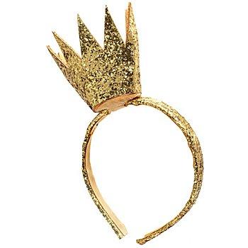 Glitzer-Haarreif 'Krone', gold