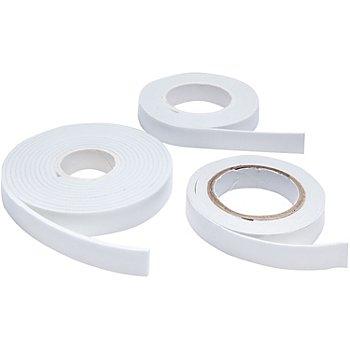 Set rubans adhésifs 3D, blanc, 6 m