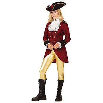 Veste de pirate pour femmes, rouge