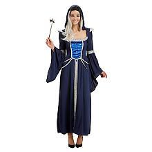 Zauberinkostüm für Damen, blau