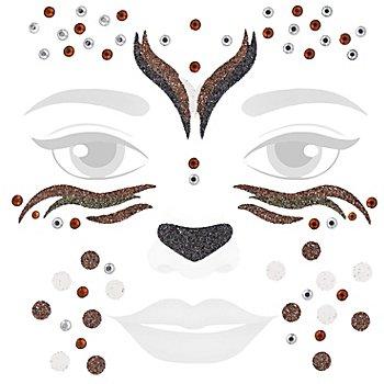 Face Art Tatouage 'cerf scintillant'