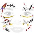"Face Art Tatouage ""pirate scintillant"""