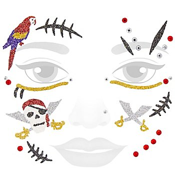 Face Art Tatouage 'pirate scintillant'