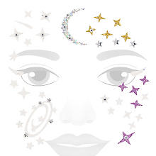 Face-Art-Tattoo 'Glitzer-Galaxy'