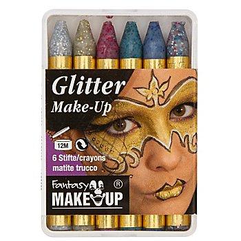 Schminkstifte 'Glitter', 6 Stück
