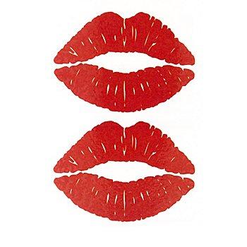 Set de tatouages 'bouche en cœur'