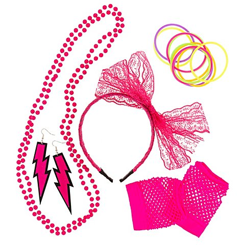 """Image of Accessoires-Set """"80er Jahre"""", pink"""
