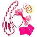 "Accessoires-Set ""80er Jahre"", pink"