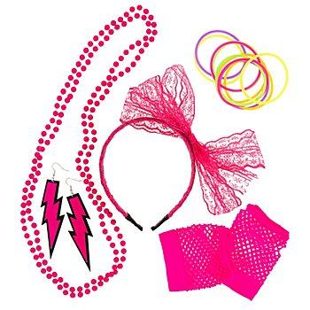Accessoires-Set '80er Jahre', pink
