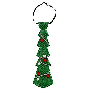 Krawatte 'Weihnachtsbaum' mit LEDs