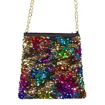 Pailletten-Tasche 'Regenbogen'