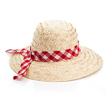 Chapeau de paille rétro avec ruban