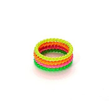 Neon-Ringe, 4er-Set