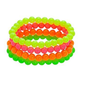 Perlenarmbänder 'Neon'