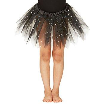 Kinder-Tutu, schwarz-glitter