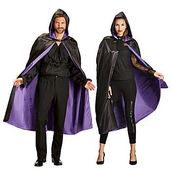Cape, noir/violet pour hommes et femmes