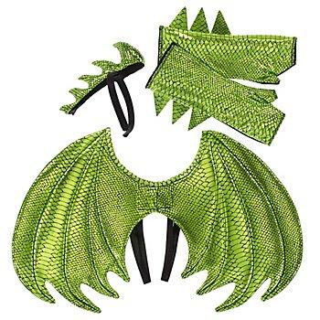 Set 'Drache' für Kinder, grün