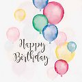 """Serviettes en papier """"Happy Birthday"""", 33 x 33 cm, 20 pièces"""