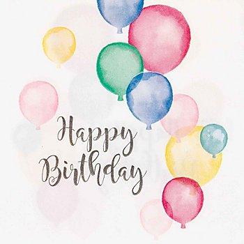 Serviettes en papier 'Happy Birthday', 33 x 33 cm, 20 pièces