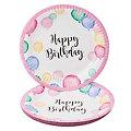 """Pappteller """"Happy Birthday"""", 8 Stück"""