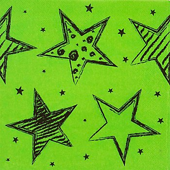 Serviettes en papier 'soirée fluo', 33 x 33 cm, 20 pièces