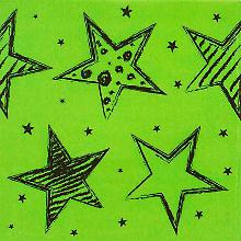 Serviettes en papier 'Fête néon', dim. : 33 x 33 cm, 20 pièces