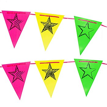Wimpelkette 'Neon-Party', 6 m