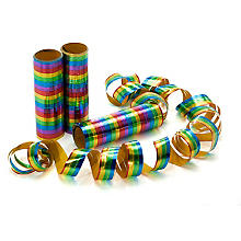 Luftschlangen 'Metallic', bunt