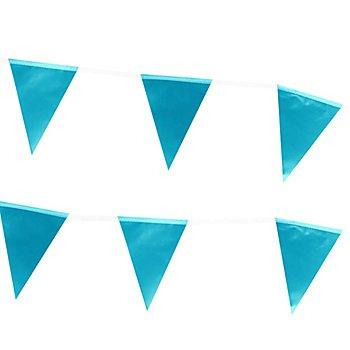 Wimpelkette 'Metallic', blau