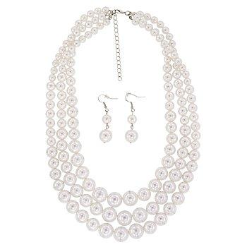 Kit de bijoux en perles, crème