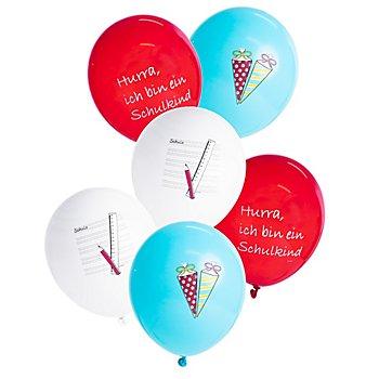 Luftballon 'Schulkind', 6 Stück