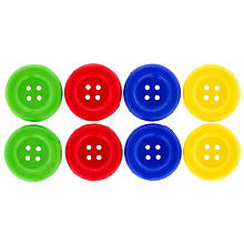 Boutons, multicolore, 70 mm Ø