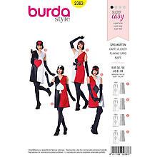 burda Patron 'robe carte à jouer'