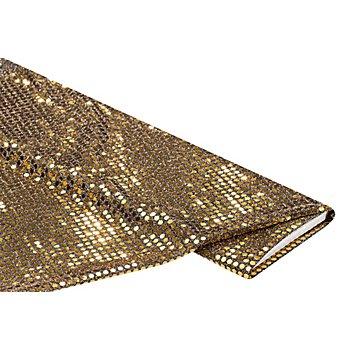 Tissu à paillettes 'gloss', doré, 6 mm Ø