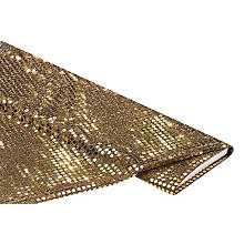 Paillettenstoff 'Gloss', gold, 6 mm Ø, 135 cm breit