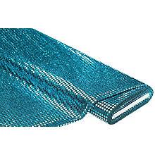 Paillettenstoff 'Gloss', türkis, 6 mm Ø, 140 cm breit