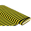 Streifenstoff, gelb/schwarz