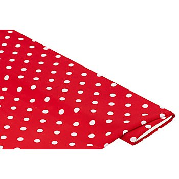 Tissu à pois, rouge/blanc