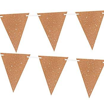 Wimpelkette 'Glitter', roségold, 6 m