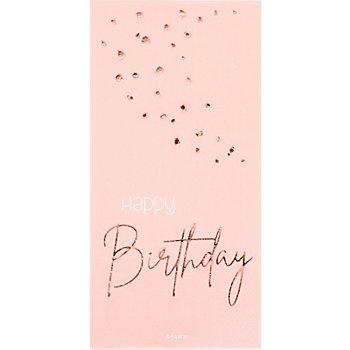 Servietten 'Happy Birthday' in Rosé