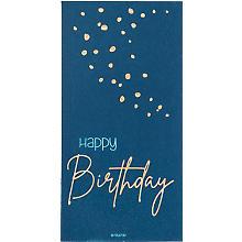 Servietten 'Happy Birthday' in Blau